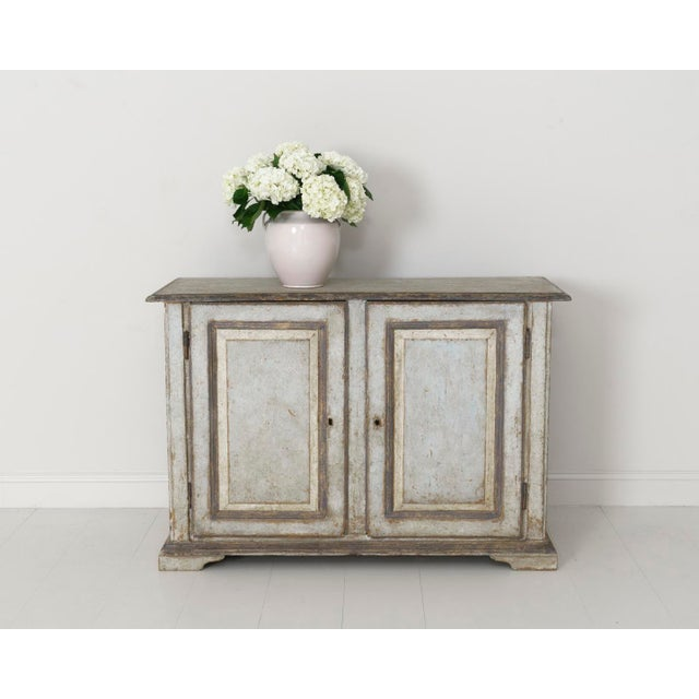 19th Century Italian Abruzzo Two-Door Buffet in Original Paint For Sale - Image 12 of 13