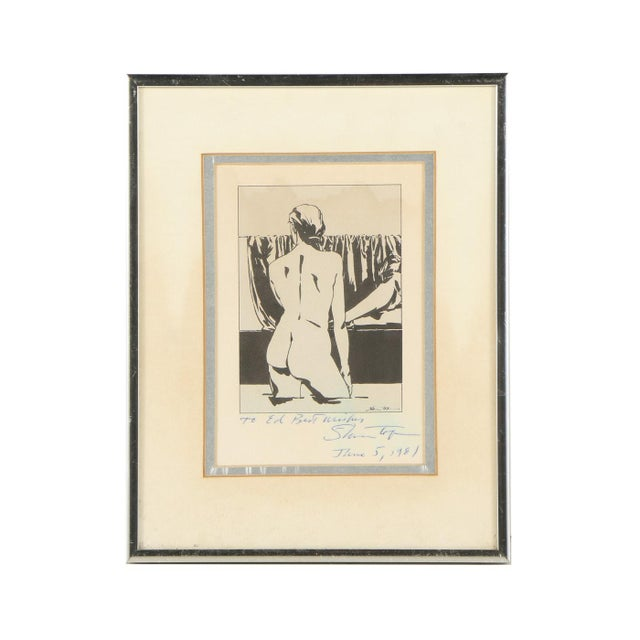 Vintage Black & White Nude Print For Sale In Minneapolis - Image 6 of 6
