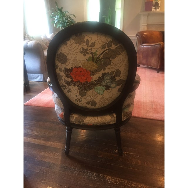 Floral Bergere Arm Chair - Image 5 of 8