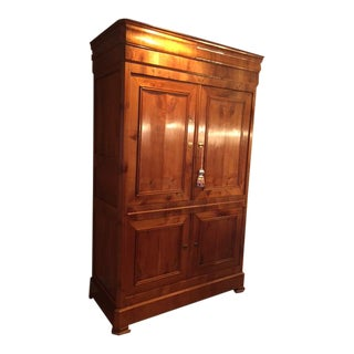 Antique ABC Home Wood & Brass Fittings Armoire For Sale
