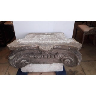 Antique (Early 19th Century) French Stone Column Capital, Ionian Style Preview