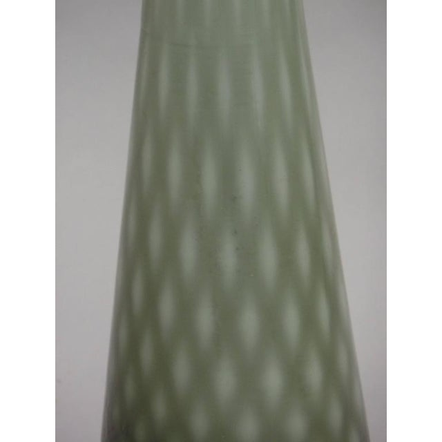 1930s Pair of 1930s Large Modern Neoclassical Murano Glass Table Lamps For Sale - Image 5 of 6