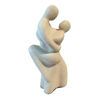 Art Deco Couple Embracing Sculpture