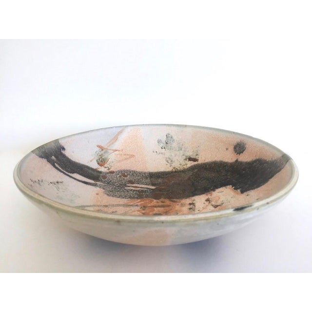 Vintage Mid Century Modern Studio Pottery Abstract Expressionist Signed Ceramic Bowl For Sale In Kansas City - Image 6 of 13