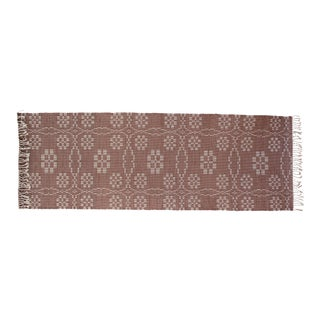 "Handwoven Reversible Vintage Swedish Rug by Scandinavian Made 85"" x 27"" For Sale"