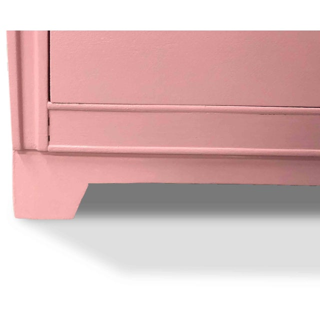 Metal 1960s Mid-Century Modern Pink Ring Pull Chest by Broyhill For Sale - Image 7 of 10