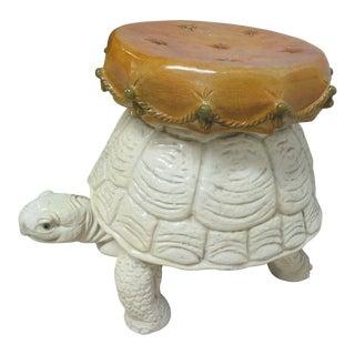 Mid-Century Molded Tortoise Turtle Footstool