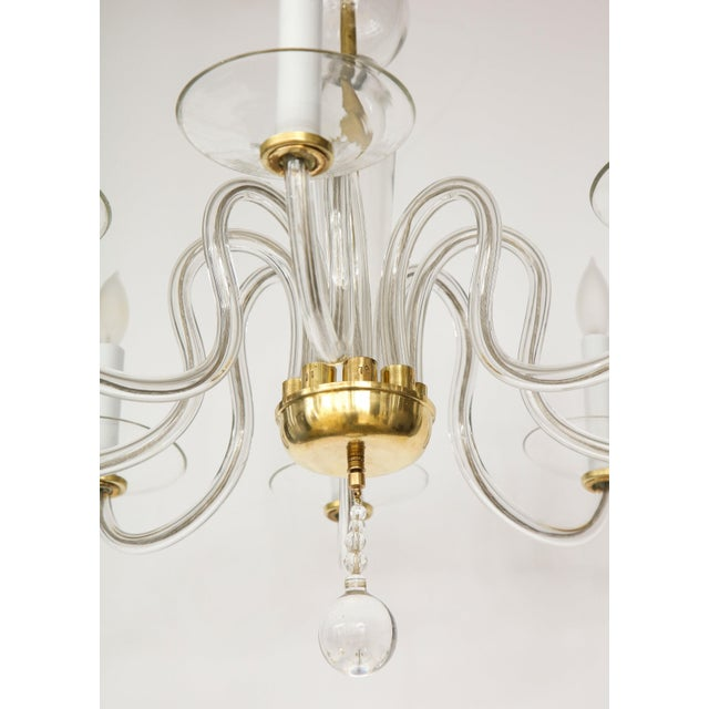 Transparent 1960s Murano Glass Eight Arm Chandelier For Sale - Image 8 of 11