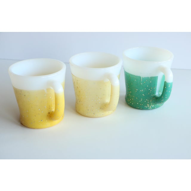 Glamalite Glitter Mugs in Caddy by Fire-King - Set of 8 - Image 8 of 11