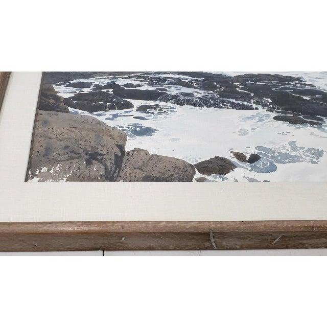 Merv Corning (1926-2006) Rocky Coastal Landscape Watercolor For Sale In San Francisco - Image 6 of 9