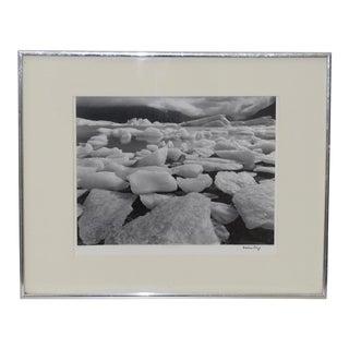 Robert Werling Portage Glacier Alaska Black & White Silver Gelatin Photograph