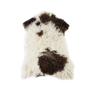 "Contemporary Natural Wool Sheepskin Pelt -2'3""x3'0"" For Sale"