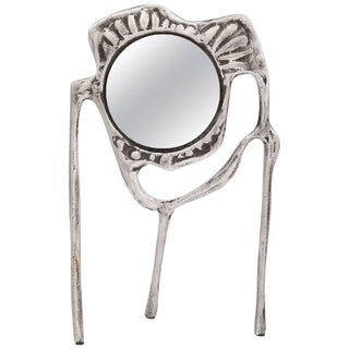 1970s Mid-Century Modern Donald Drumm Aluminum Tabletop Mirror For Sale