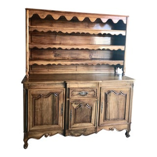 1920s French Country Oak Buffet For Sale