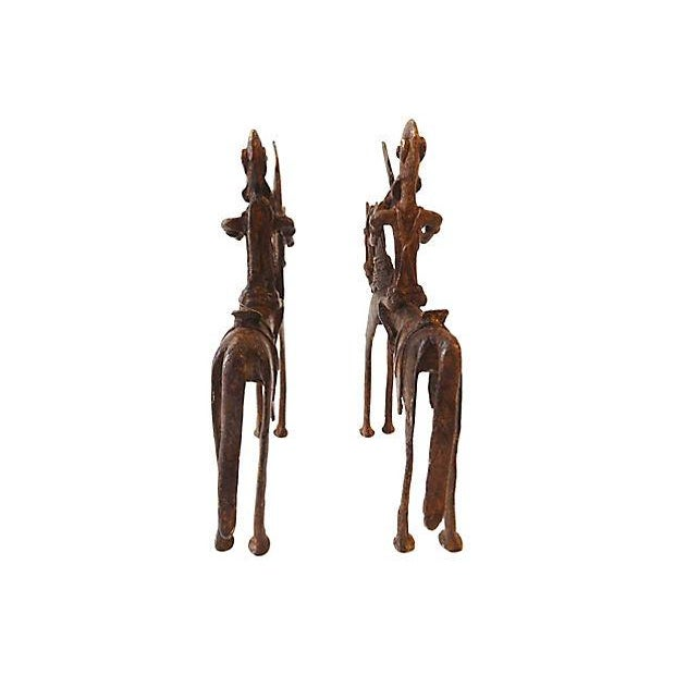 Bronze African Dogon Bronze Horseman Mali - Pair For Sale - Image 7 of 8