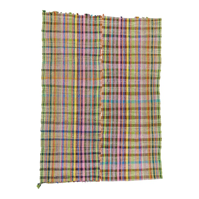 Vintage Turkish Colorful Rag Rug - 7′8″ × 10′8″ - Image 1 of 6
