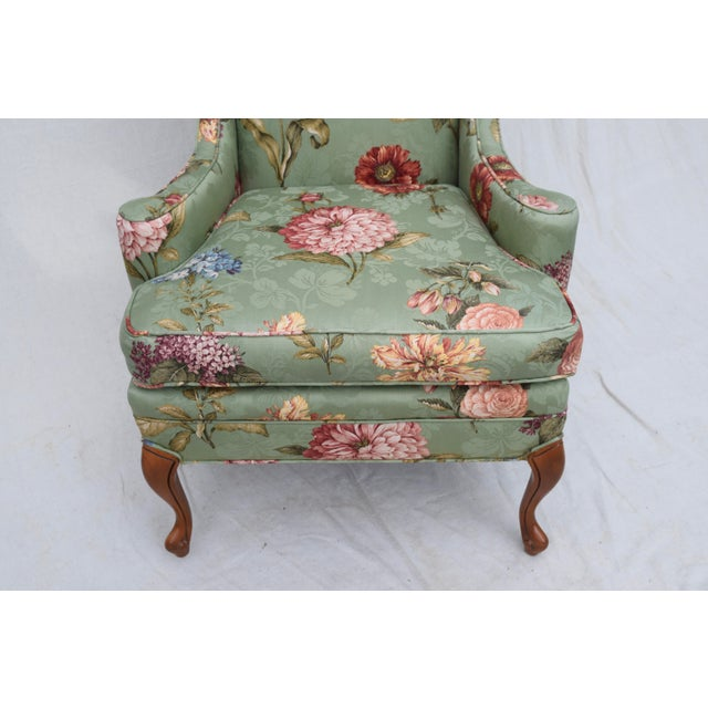 Baker Wing Back Chair For Sale - Image 9 of 10
