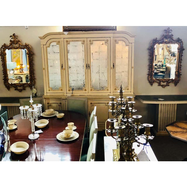 Pair of Louis XV Style Gilt Wall Console or Pier Mirrors With Beveled Glass For Sale - Image 11 of 12