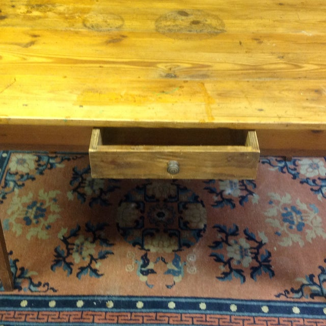Antique French Pine Table For Sale - Image 4 of 7