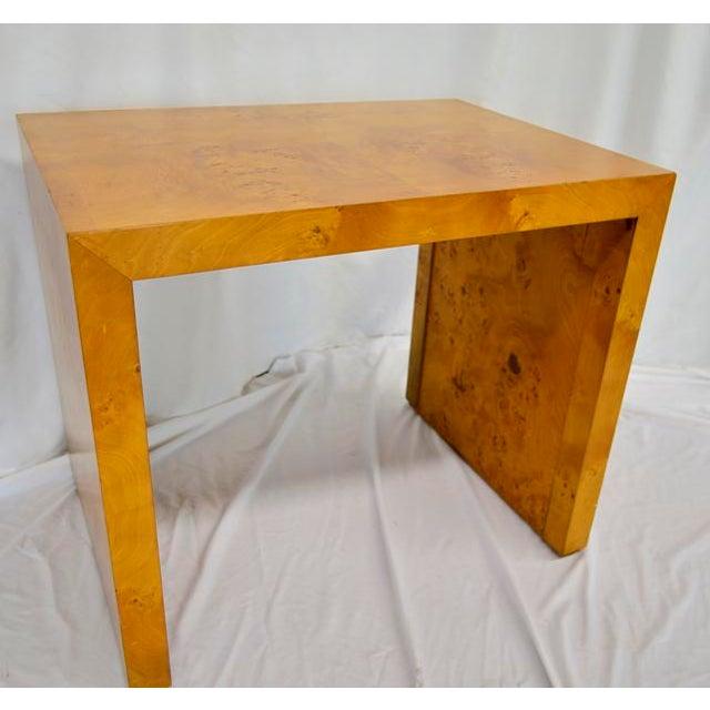 1960s Mid Century Modern Olive Burlwood Side Table For Sale - Image 4 of 8