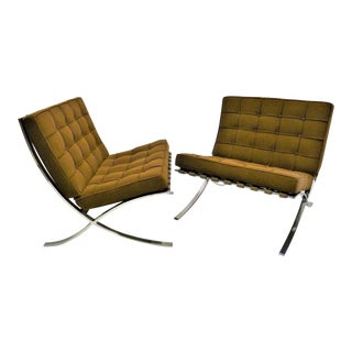 Vintage Mies Van Der Rohe Barcelona Chairs for Knoll- A Pair For Sale
