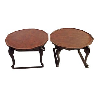 Antique Chinese Chow Tables - A Pair For Sale