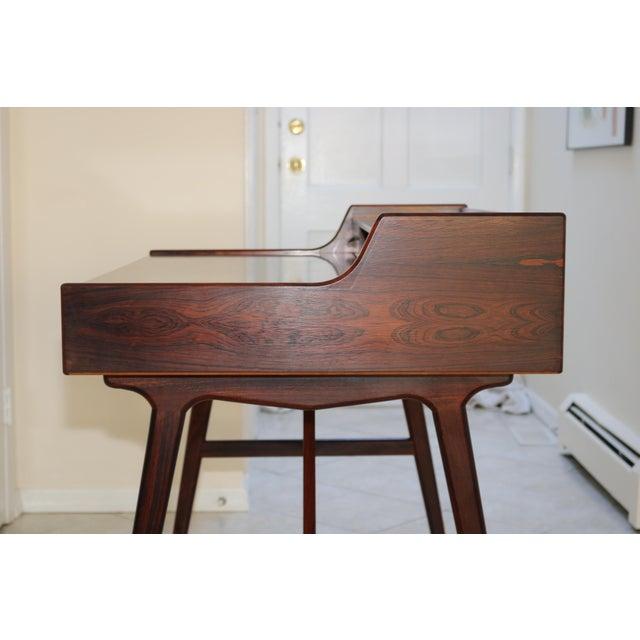 Vintage Arne Wahl Iversen Model 64 Rosewood Vinde Mobelfabrik Desk For Sale - Image 9 of 13
