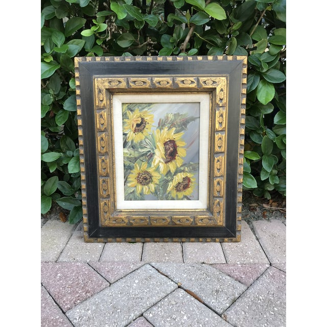 Mid-Century Impressionist Painting of Sunflowers For Sale - Image 10 of 10