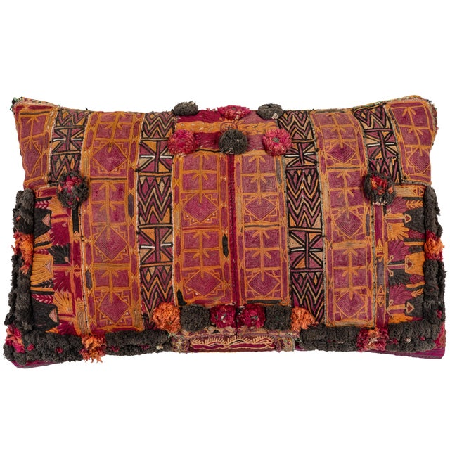 Mid 20th Century Afghani Pashtun Pillow For Sale - Image 5 of 5