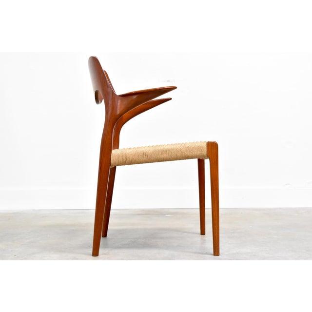 j.l. Møller Model 71/55 Teak & Danish Cord Dining Chairs - Set of 8 For Sale - Image 11 of 13