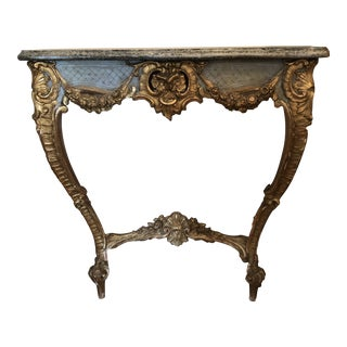 19th C French Diminutive Console Table For Sale