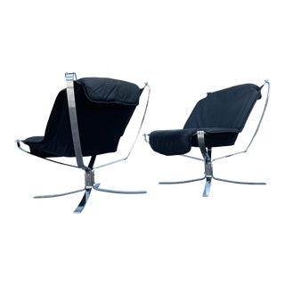 Mid Century Modern Falcon Chair Sigurd Ressell for Vatne Mobler - a Pair For Sale