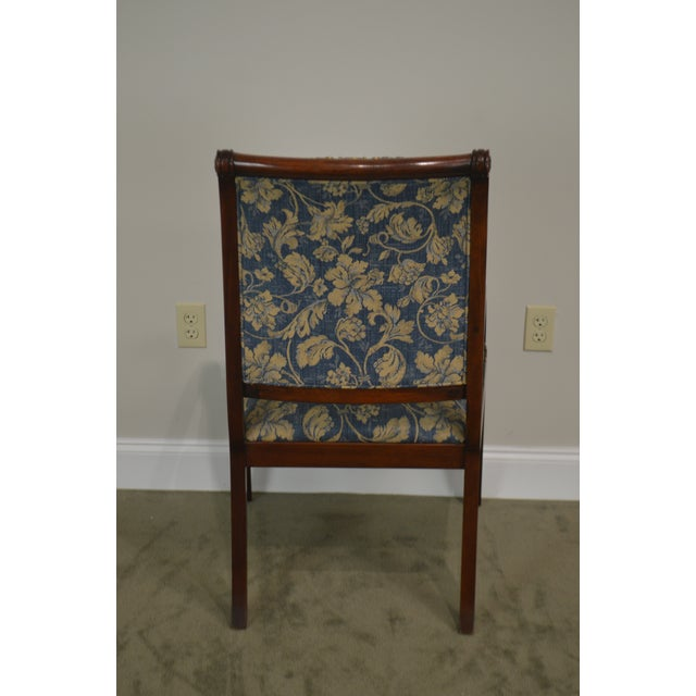 2000 - 2009 Henredon Natchez Collection Set of 10 Mahogany Regency Style Dining Chairs For Sale - Image 5 of 13