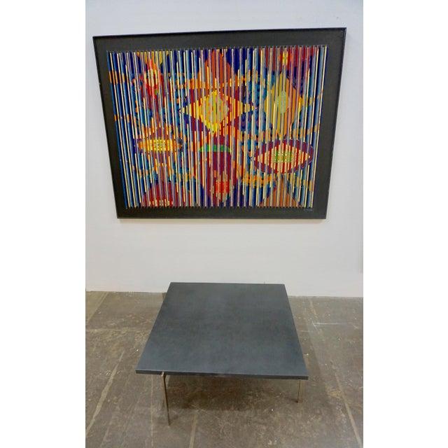 Poul Kjaerholm 1950s Mid-Century Modern Poul Kjaerholm Coffee Table With Slate Top For Sale - Image 4 of 7