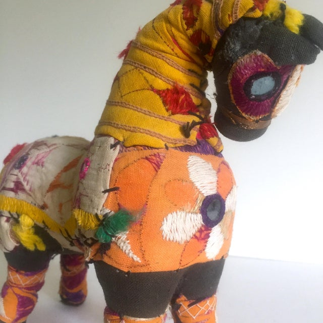 Vintage Indian Patchwork Horse Figurine For Sale In New York - Image 6 of 11