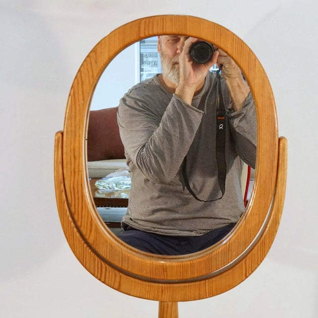 Mid-Century Modern Mid 20th Century Hans Agne Jakobsson Table Mirror For Sale - Image 3 of 8