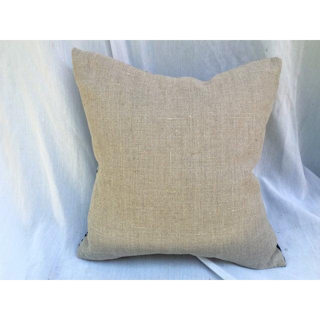 Bleached-Out Indigo Batik Pillow - Image 10 of 10