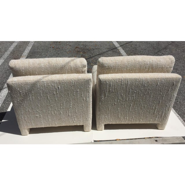 Modern Note: 1 Pair Is on a 5-Day Hold ---Slipper Chairs by Milo Baughman for Thayer Coggin 1979 - a Pair For Sale - Image 3 of 13