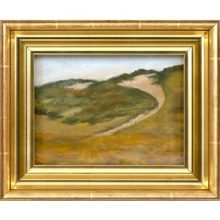 "1980s ""Path to Ryder Beach"" Pastel Drawing by Jan Messier, Framed For Sale"
