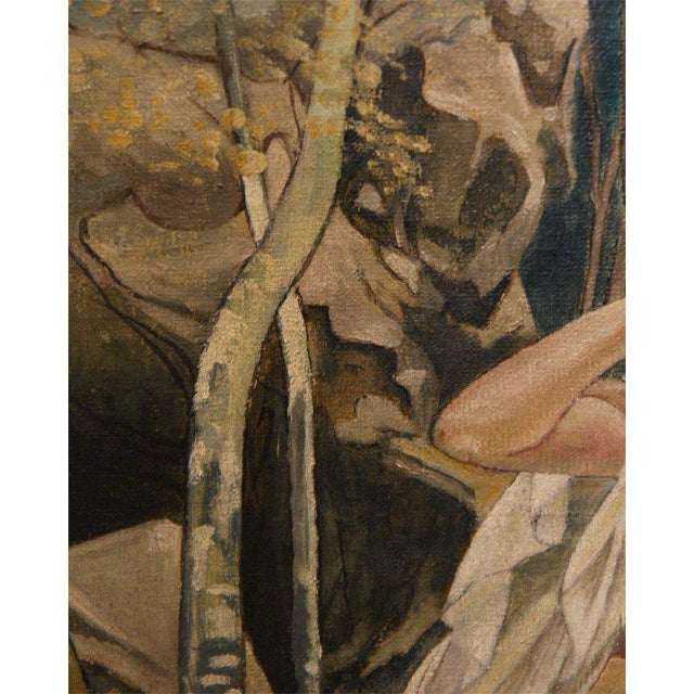 """Canvas """"Diana"""", Oil on Canvas by M. De Wilde For Sale - Image 7 of 9"""
