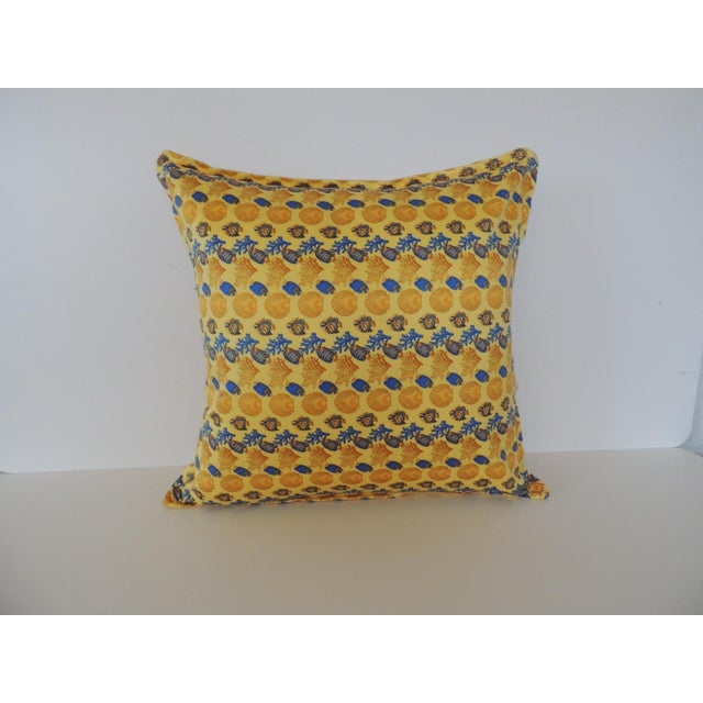 Blue Gianni Versace Authentic Seashells and Coral Printed Decorative Pillow For Sale - Image 8 of 8