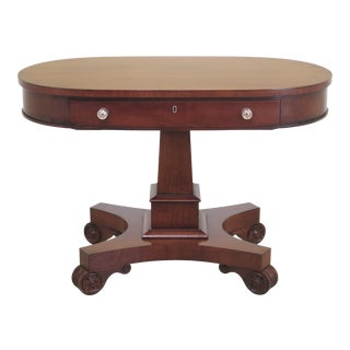 Ralph Lauren Oval Cherry 1 Drawer Empire Table For Sale