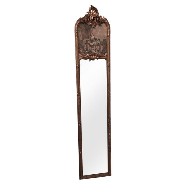 Gilded Long Mirror For Sale