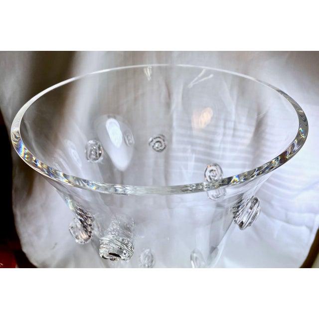 Transparent Steuben Swirled Crystal Vase For Sale - Image 8 of 13