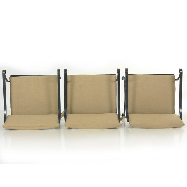 Set of Six Salterini Style Black Iron Patio Dining Chairs, Mid 20th Century For Sale - Image 6 of 13