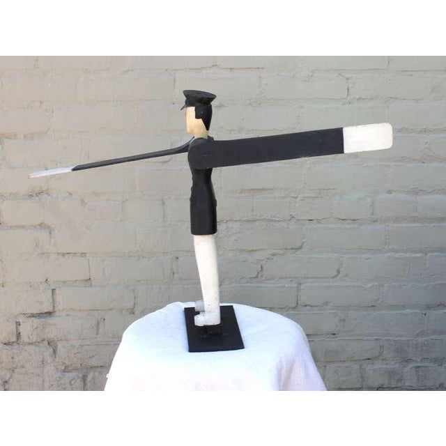 All Original Early Hand-Carved Policeman Whirligig - Image 6 of 9