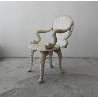Hand Carved Venetian Grotto Style Chair Preview