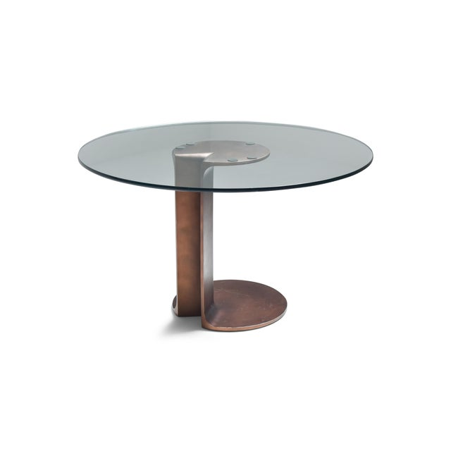 1970s Afra & Tobia Scarpa Bronze Table Tl59 For Sale - Image 13 of 13