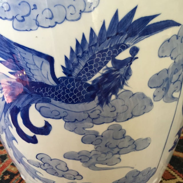 Large Chinoiserie Ceramic Garden Stool - Image 5 of 9
