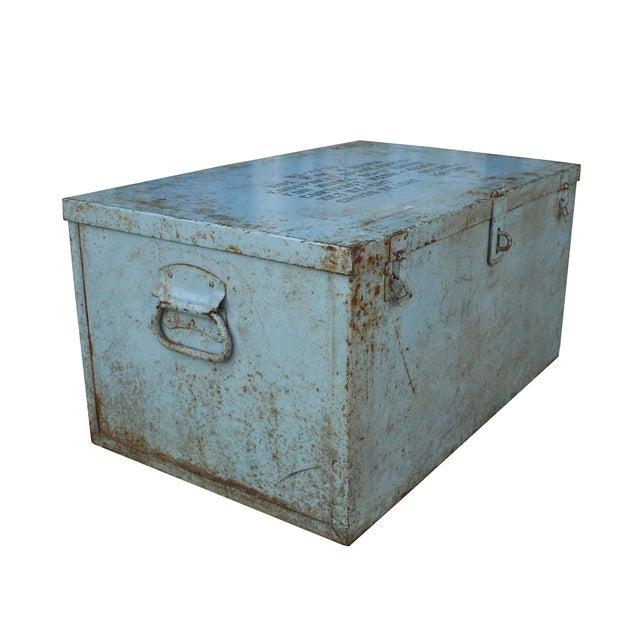 Grey Metal Trunk - Image 1 of 3